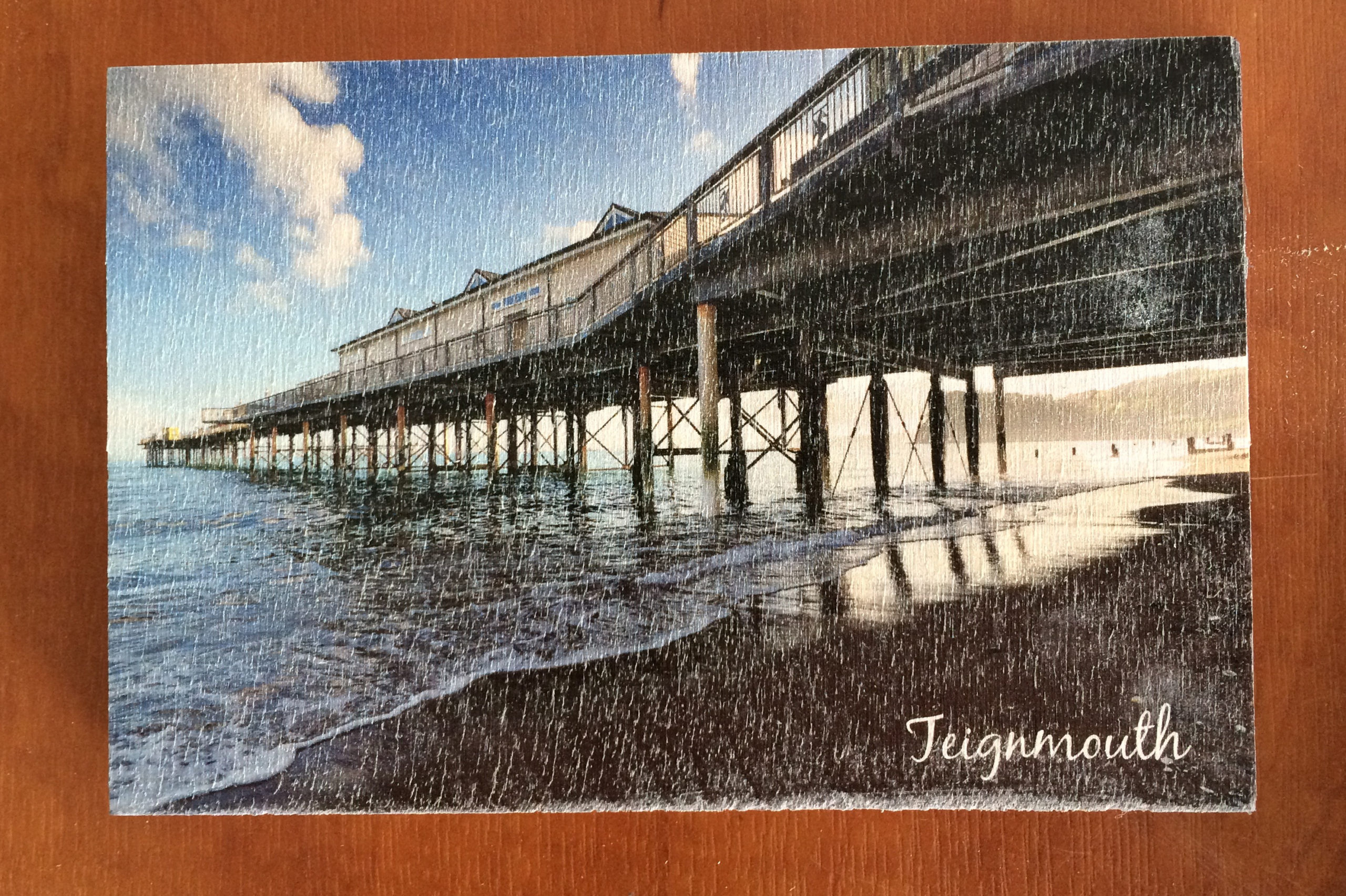 Colour Printed Wooden Postcard