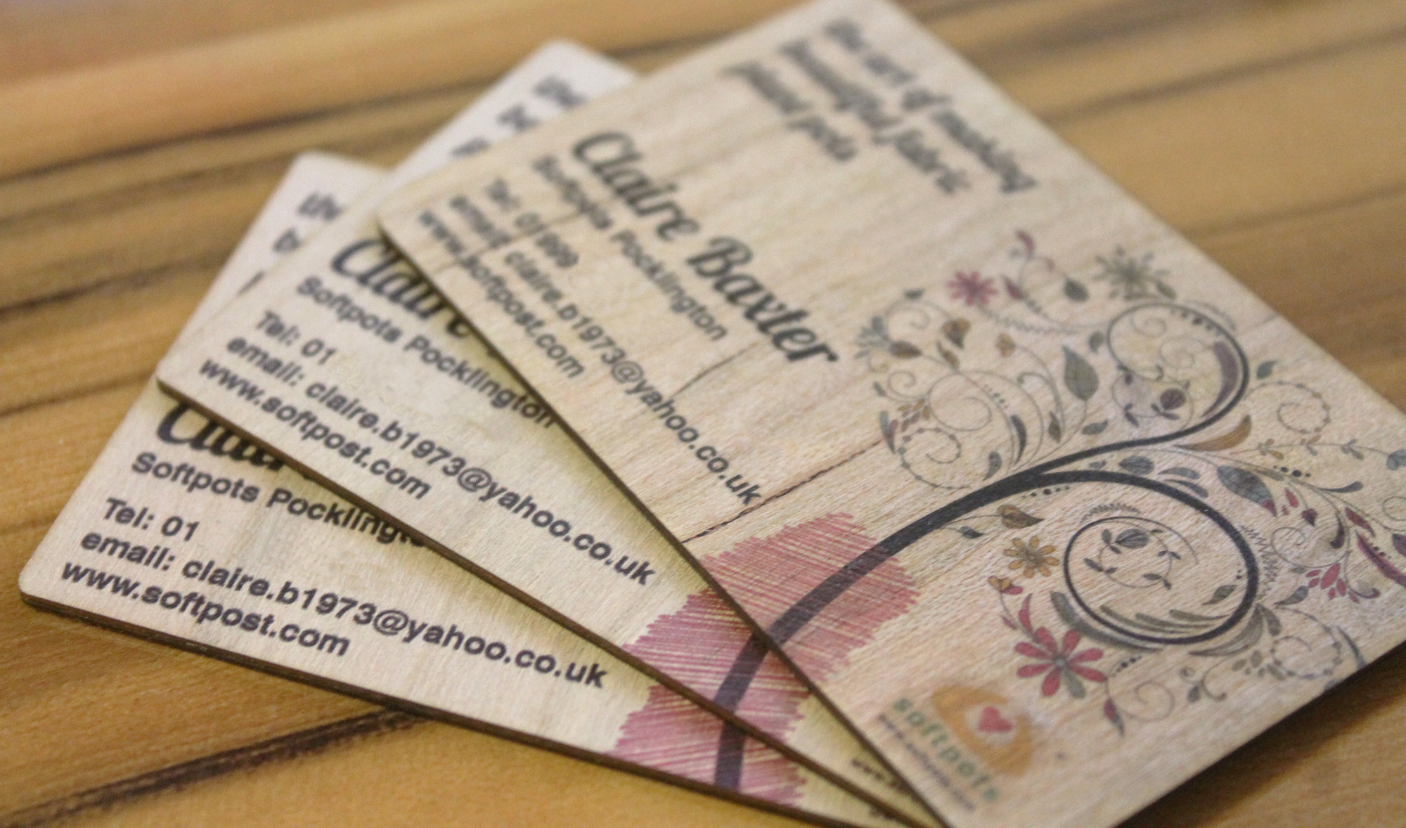 Wood Business Cards | Inspirwood