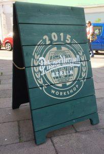 Pilsner Urquell Street sign