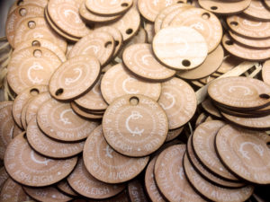 Wooden labels for Wedding favours