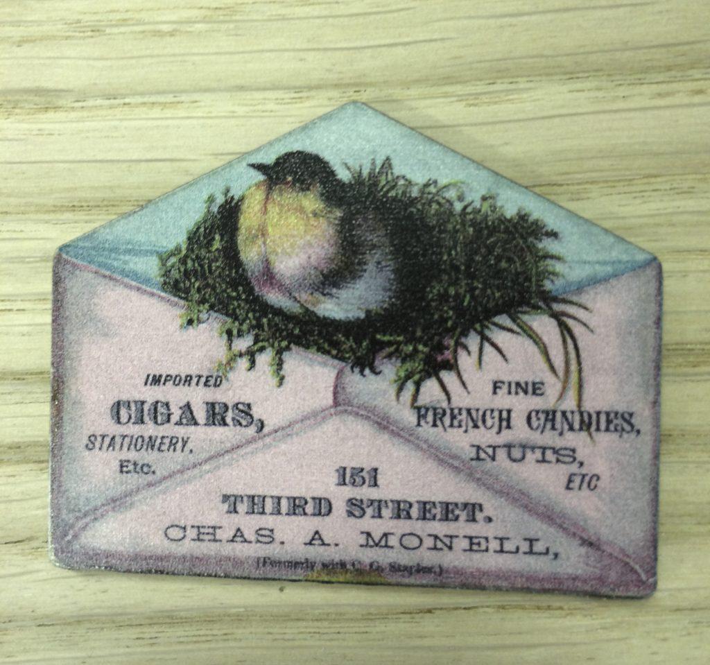 Printed wooden envelope