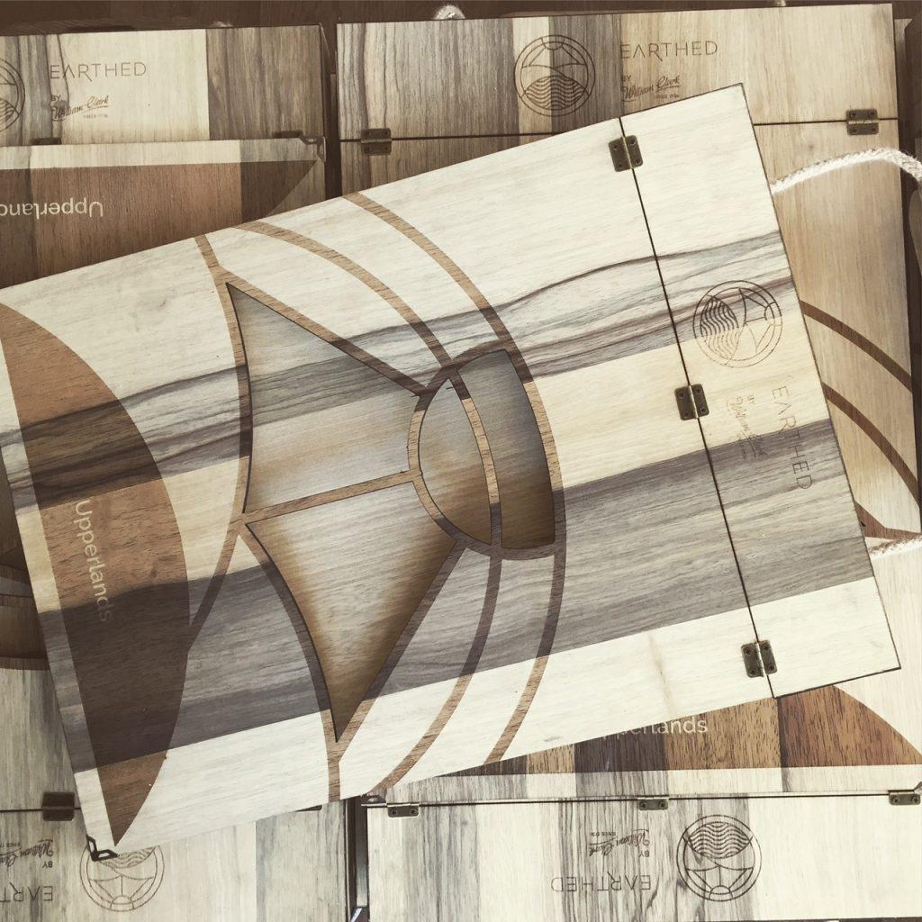 William Clark Fabric Sample Books engraved on wood