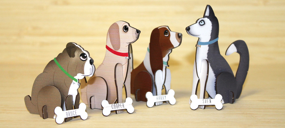 Dog Themed Wooden Invitations