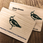 Cherry wood business cards