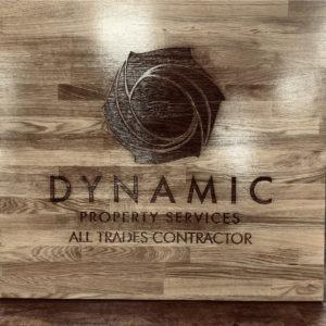 Dynamic Engraved Oak sign
