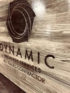 Dynamic Engraved Solid Oak sign and varnished