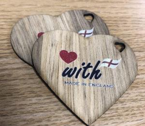 Heart shape label