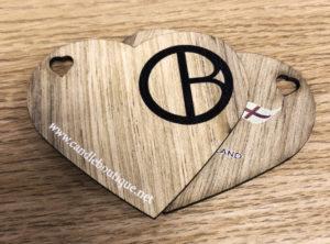 Heart shape label backs