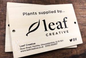 Leaf creative bamboo printed sign