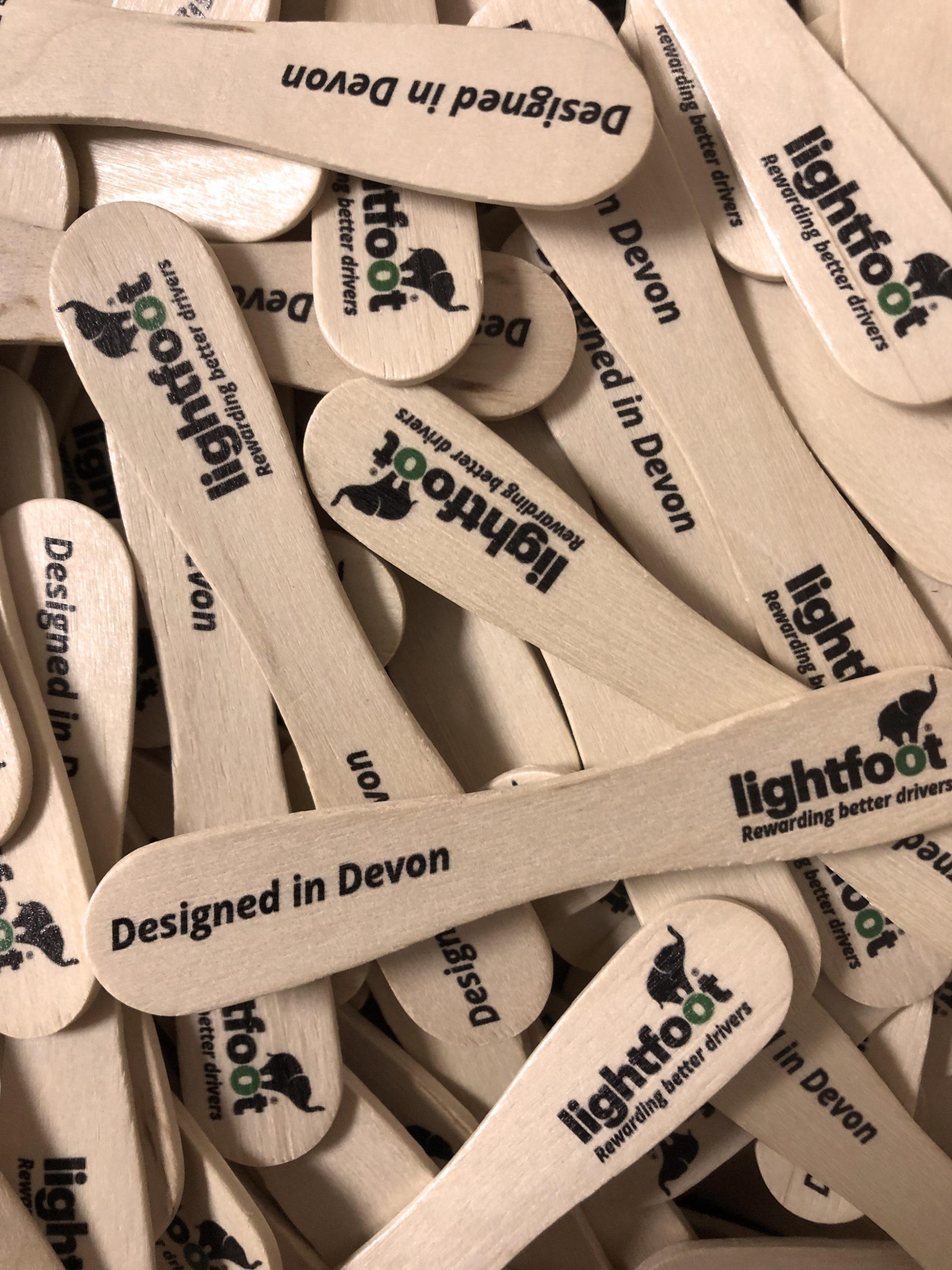 Lightfoot printed lollypop sticks