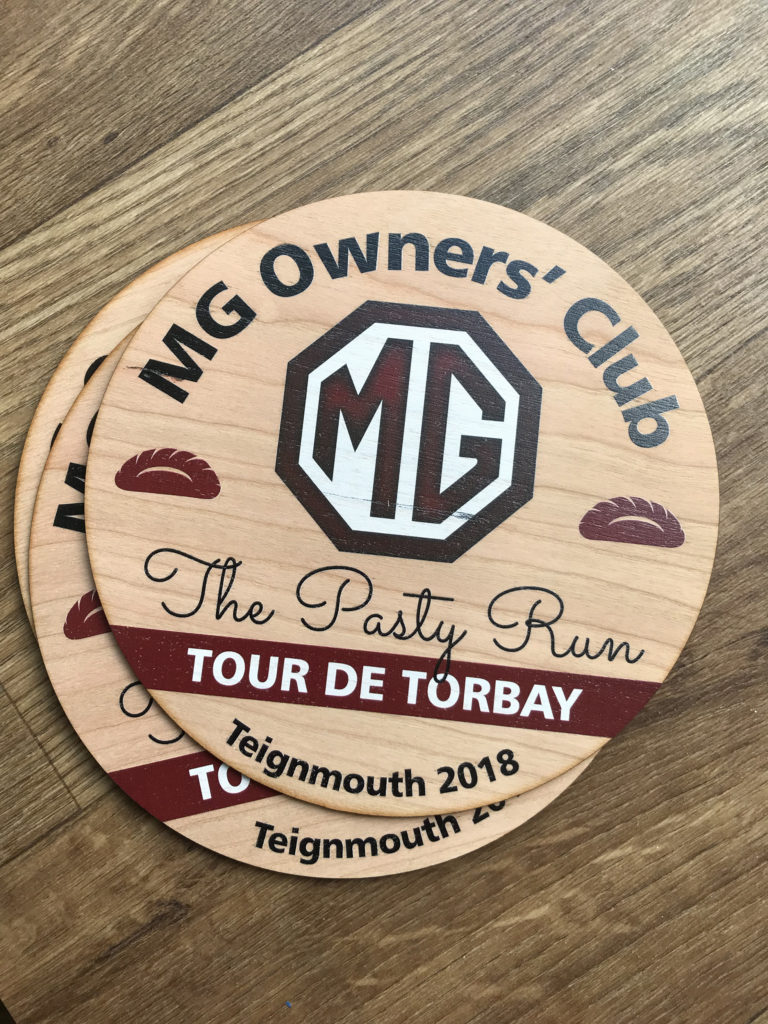 MG owners club wooden trophy