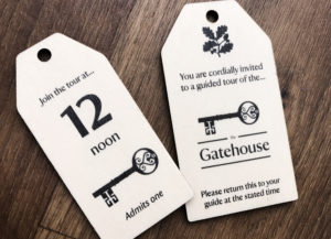 National Trust wooden key fob