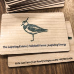 Printed business cards on Cherry