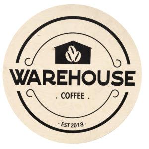 Warehouse coffee sign