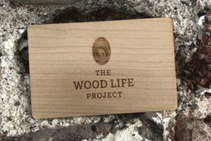 Wooden business cards for wood life project