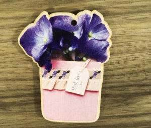 wooden flower tag