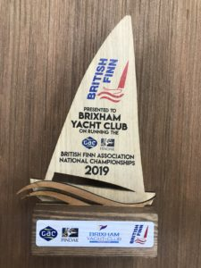 British Finn Championships wooden trophy