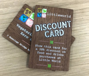 Wooden discount card loyalty card membership card made from American Walnut wood