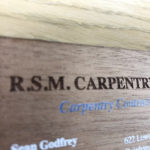 Engraved and printed business cards made from wood