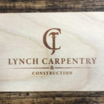Engraved wooden card maple wood veneer