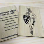 Oak double sided wooden printed cards