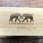 engraved bamboo wooden business card