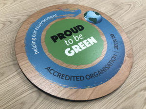 Proud to be green sign