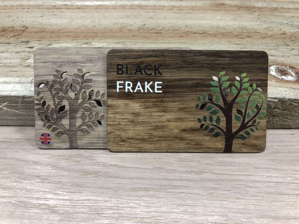 Printed Black Frake Wooden Business Cards