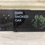 Printed Dark Smoked Oak business cards