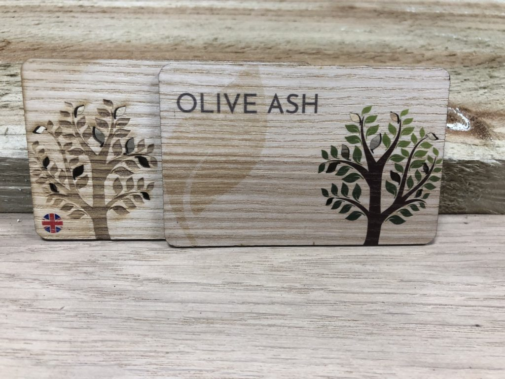 Printed Olive Ash Wooden Business cards