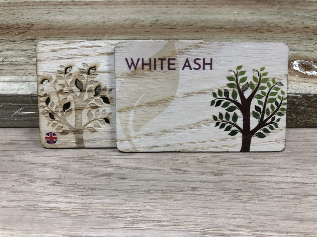 Printed White ash wooden business cards