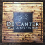 Decanter Wood sign