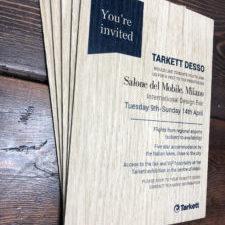 Corporate wooden invitation 2