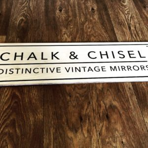 Chalk and chisel wooden sign printed