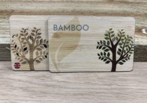 Printed Bamboo wooden Business cards