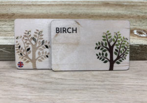 Printed Birch wooden business cards