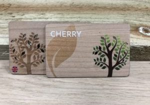 Printed Cherry wooden business cards