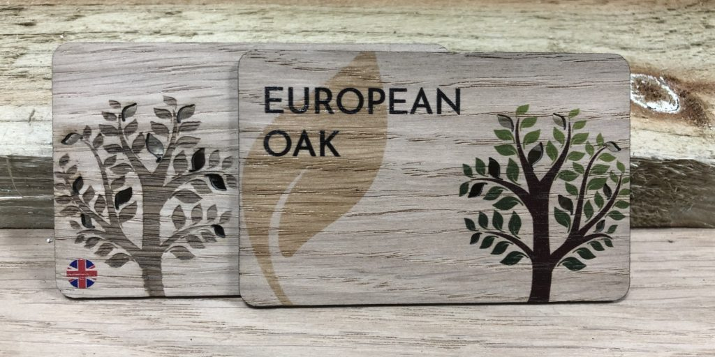 Printed Oak wooden business cards