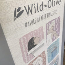 Wild Olive colour printed onto wood