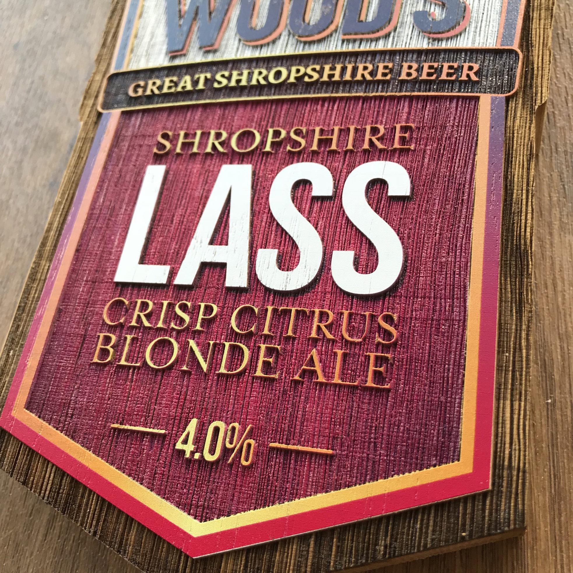 Woods Shropshire Lass badge